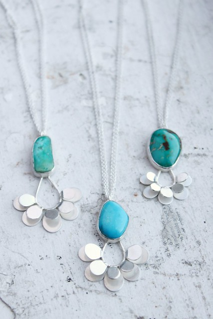 Vintage Mexican Turquoise Pendants