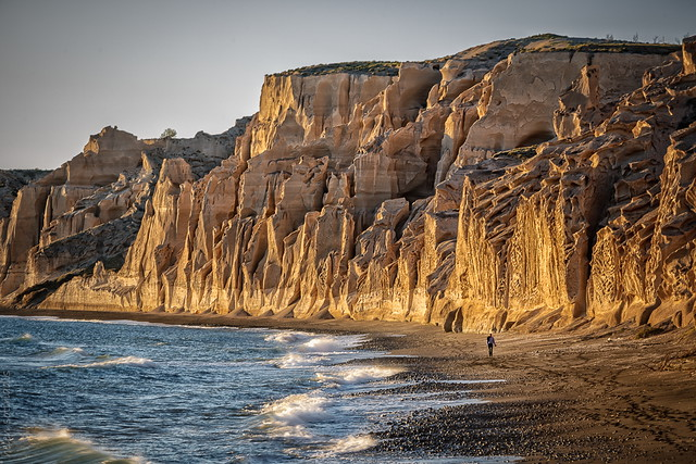 volcanic cliffs at vlychada, santorini