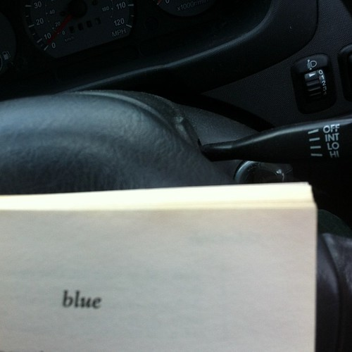 Reading in the car. Waiting for @theonlyjld