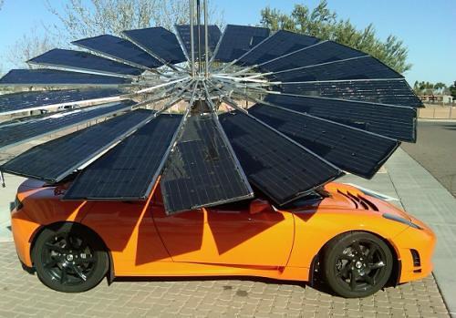Мобильное зарядное устройство Lotus Mobile зарядит любой электромобиль