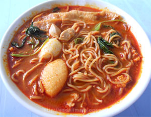 I Fu Mie Kuah Pedas - Hot & Spicy Yee Mee [http://esdelima.blogspot.com]