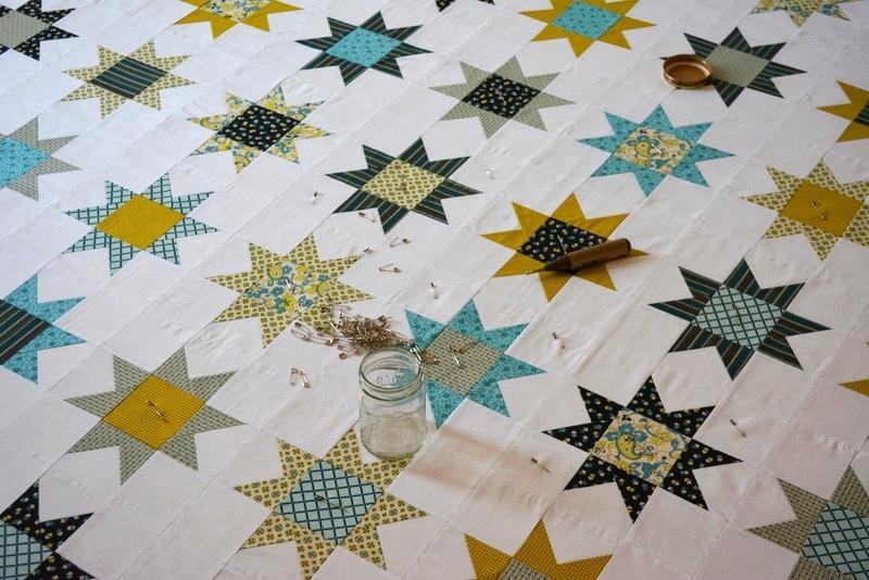Star Quilt - Basting