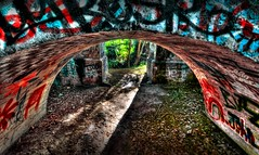 Red Tunnel Walls