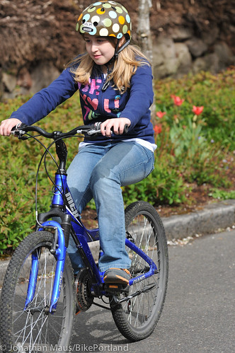 Joey Harrington school bike safety event-25