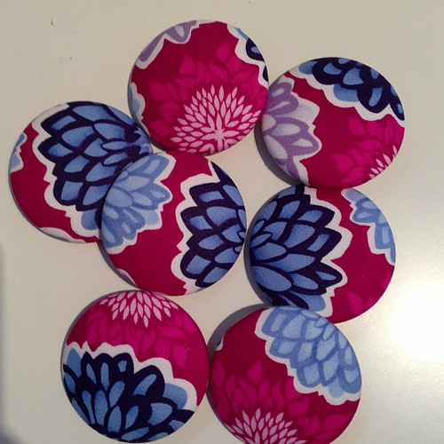 Pretty Terrain buttons for the QCA girls going to quilting convention!