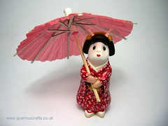 Geisha Mouse with Parasol