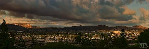 california trees mountains clouds elcajon valley