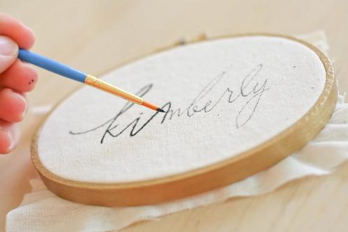 calligraphy hoop