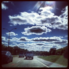 Simpson clouds today. B