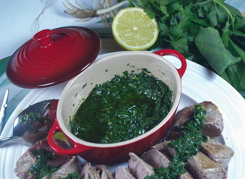 Pork Tenderloin with Ramp Chimichurri