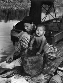 Unidentified Seminole mother and child