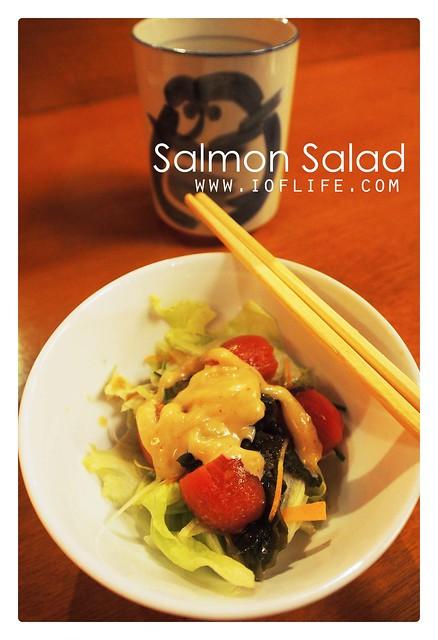 salmon salad umaku