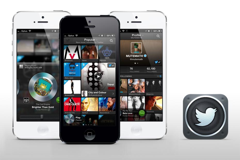 Twitter #music - iOS App