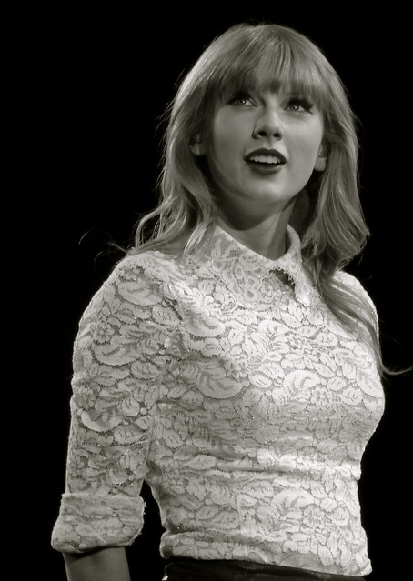 Taylor Swift Red Tour 4/20 (Black and White)