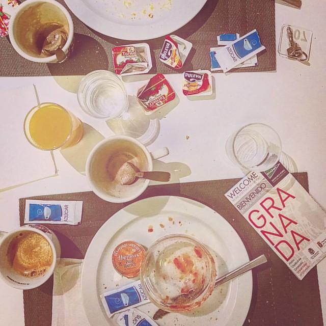 After breakfast in Granada #breakfastpic #breakfast #granada #andalusia #coffee #instatravel #after