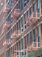 Fire Escapes, New York - SoHo