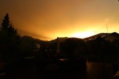 Sonnenuntergang auf der Gatterhof Terrasse