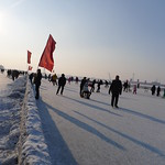Mon, 02/11/2013 - 08:17 - You can skate, sled and do all sort of fun things on the frozen Songhua river in Harbin.