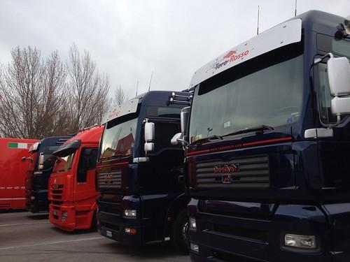 Camiones Padock Circuit Catalunya