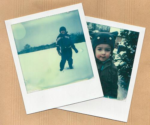 lulu et guilli dans la neige