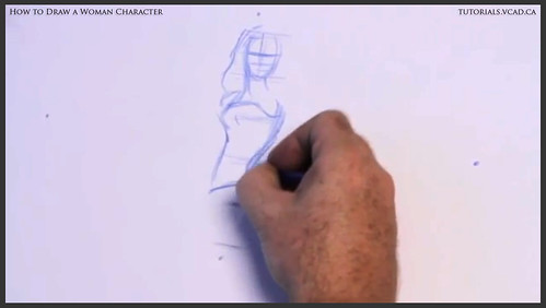 learn how to draw a woman character 003