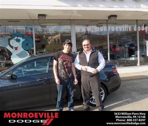 Congratulations to John Bernard Jr on the 2013 Dodge Dart by Monroeville Dodge