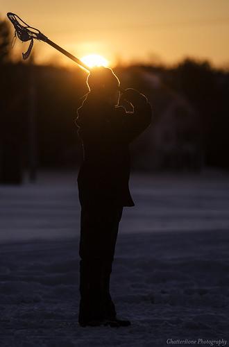 sunset snow silhouette kyle lacrosse