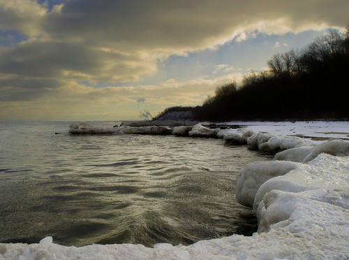 sunset lake snow ice weather wisconsin night nikon lakemichigan greatlakes milwaukee cudahy wi lakefront milwaukeelakefront d5100