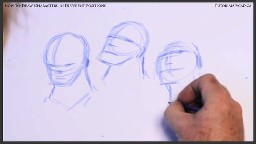 learn how to draw characters in different positions 006