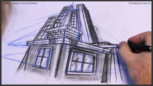 learn how to draw city buildings 035