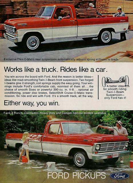 1969 ford f 100 ranger pickup truck advertisement