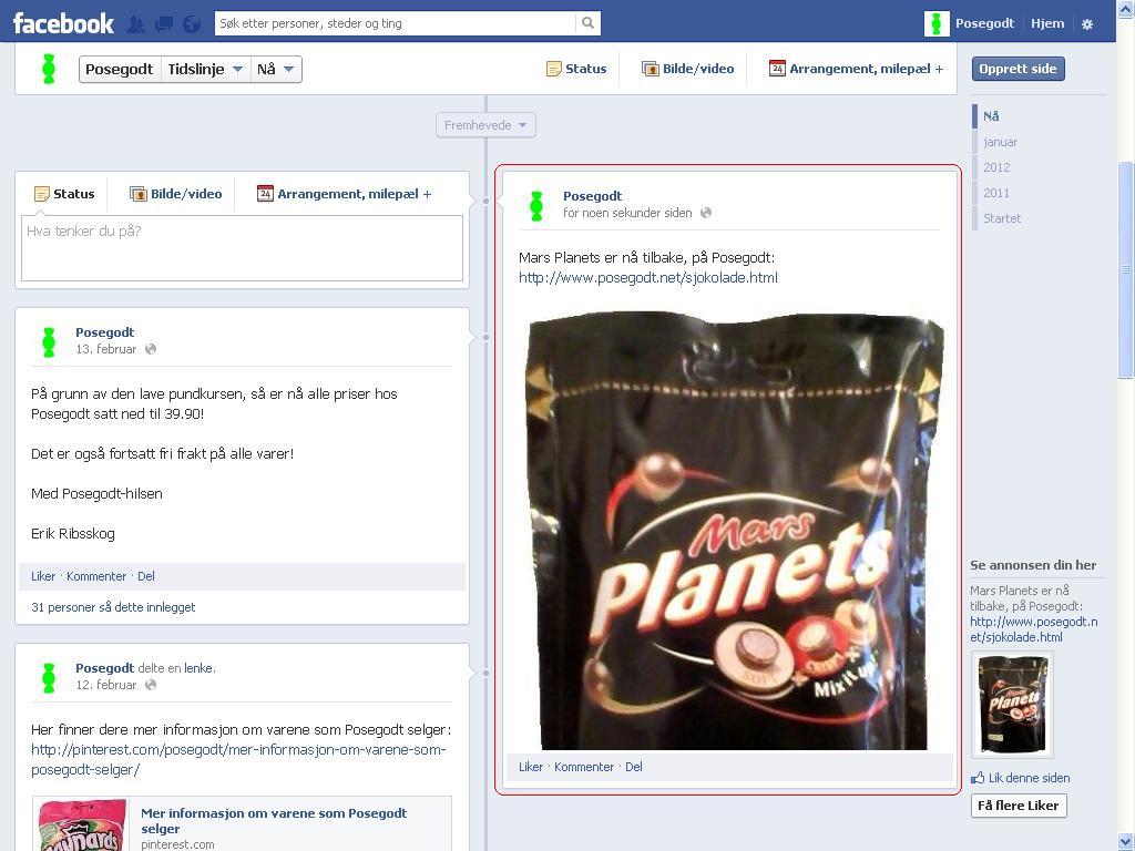 mars planets facebook posegodt