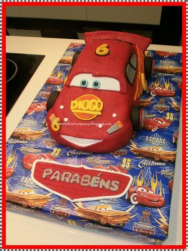 Bolo Faísca Lightning McQueen 21 by Osbolosdasmanas