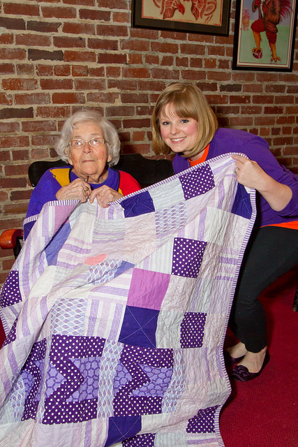 Me and Miss Emily with her quilt
