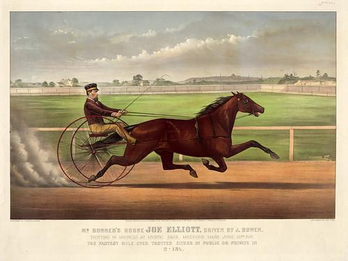 001-Imagen carreras caballos trotones-Library of Congress