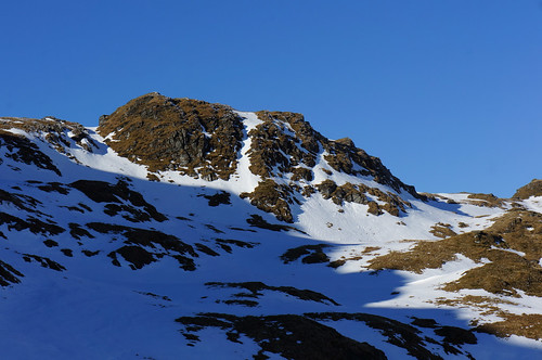 Great Gully from below Creag na Caillich