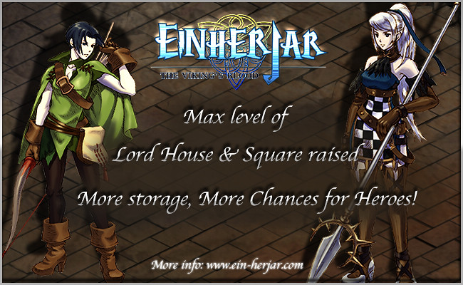 Lord House & Square max level increased in Einherjar http://www.ein-herjar.com