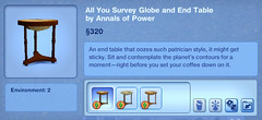 All You Survey Globe and End Table by Annals of Power