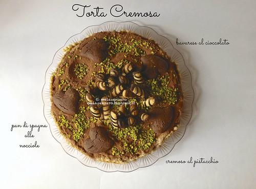 torta cremosa cioccolato pistacchio