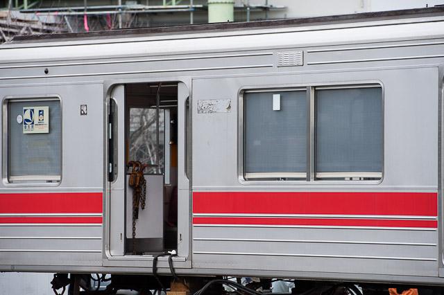 東急電鉄東横線9000系9014F サハ9714搬出