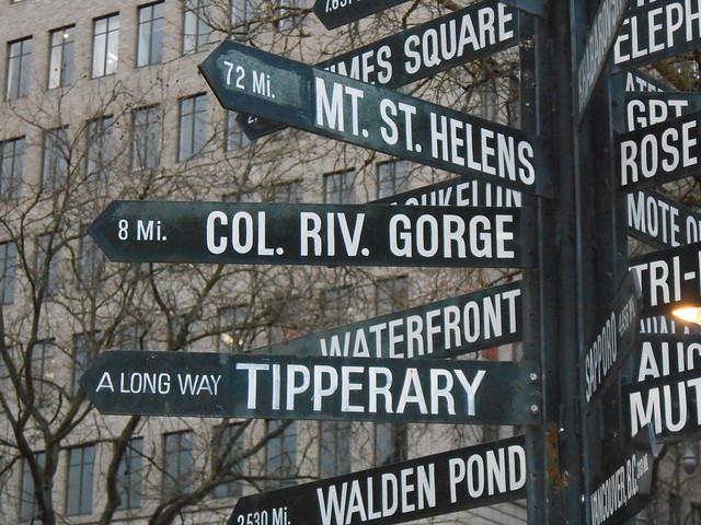Portland Distance Sign