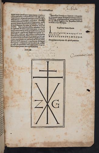 Colophon in Albertus Magnus: De animalibus