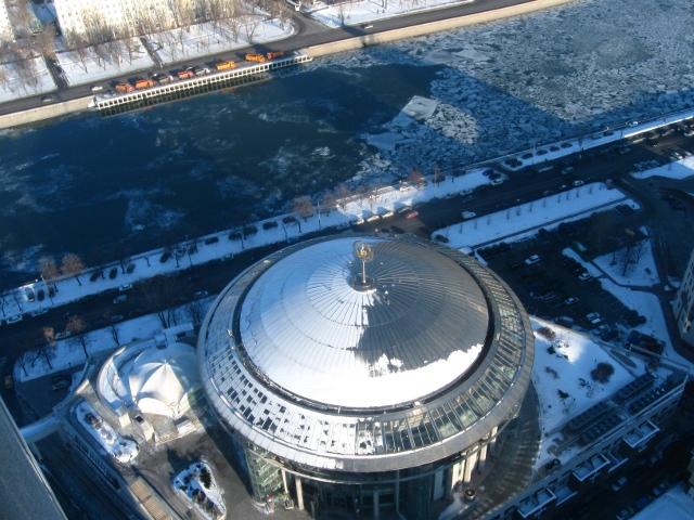 Крыша Московского международного дома музыки