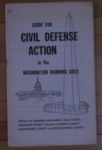 Civil Defense Map for Washington, DC, 1959