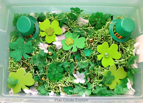 St. Patrick's Day Sensory Bin (Photo from Play Create Explore)