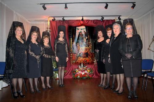 Elisa Pérez de Siles con señoras de la casa de Melilla pregon 2