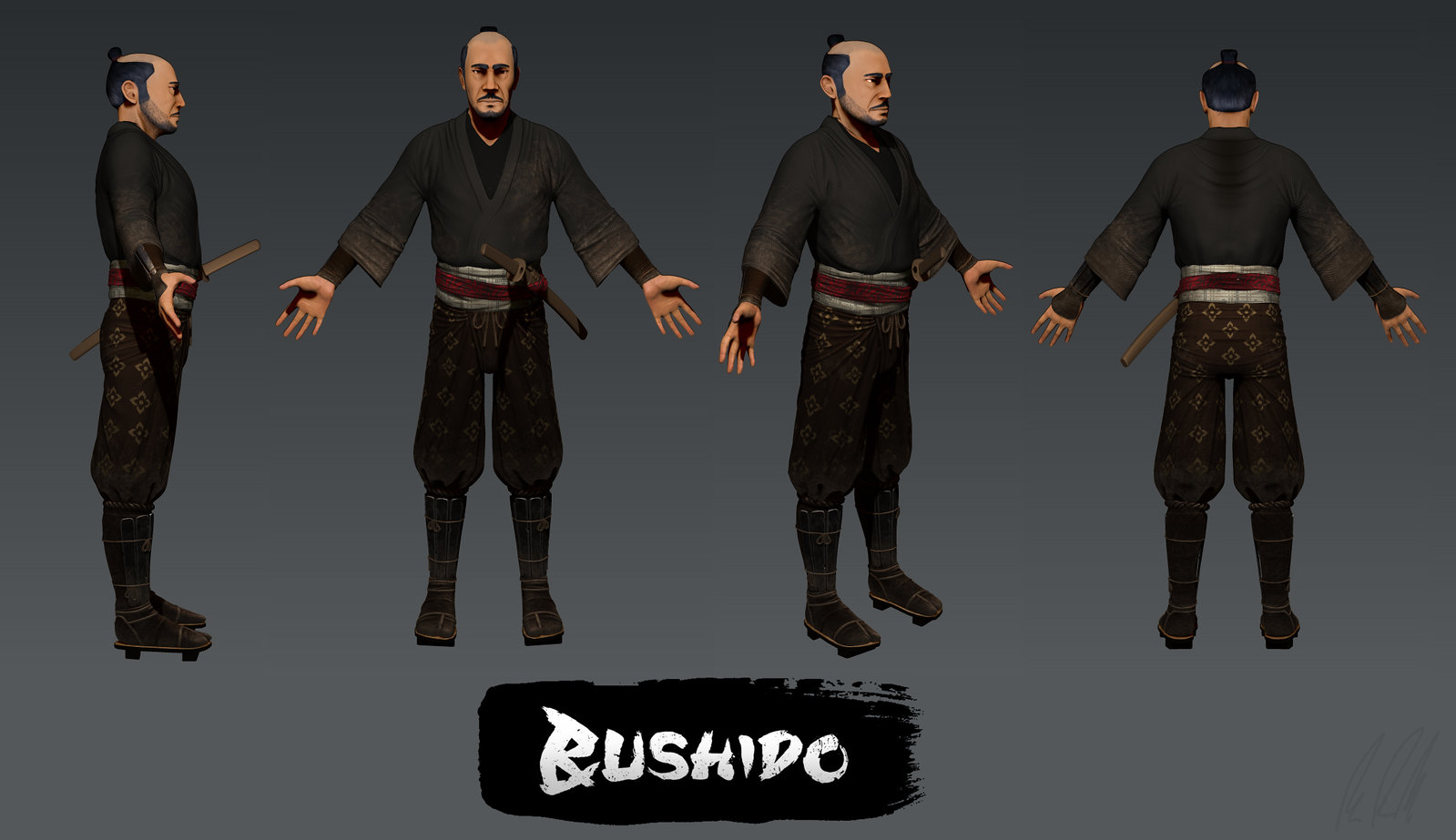 our first character class 3d model news bushido legend of the