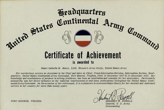 Certificate Of Achievement Da Form 2442.Fill In Certificate ...