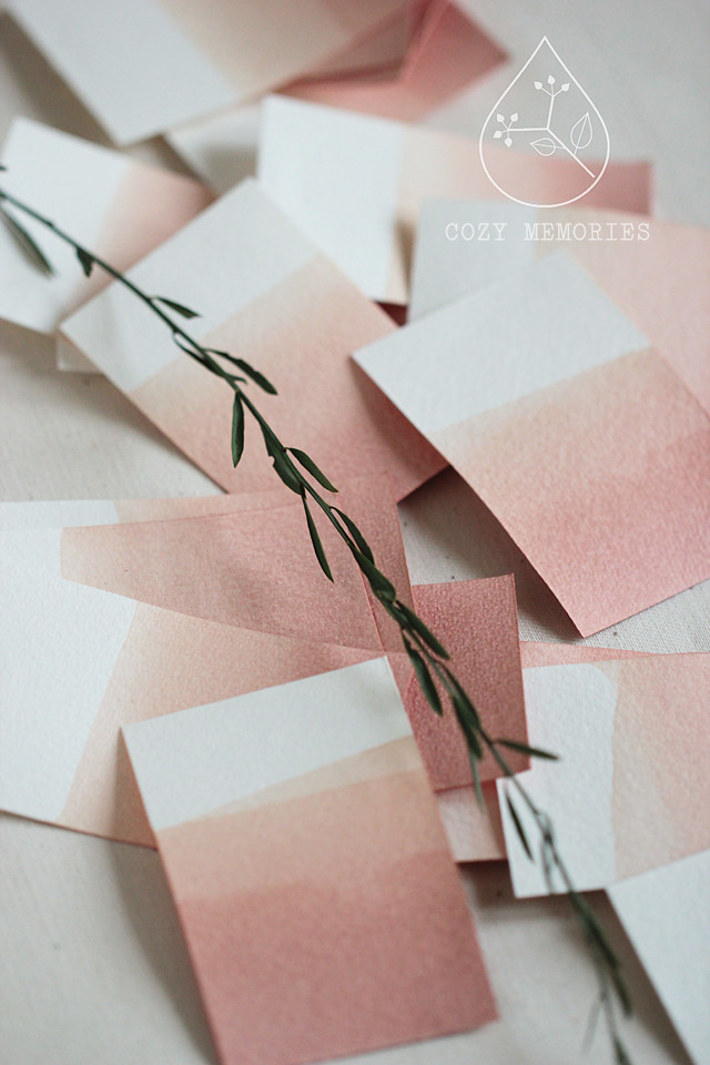 naturally dip dyed business cards (to be)
