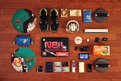 DJ Neil Armstrong's Travel Essentials Via Hypebeast